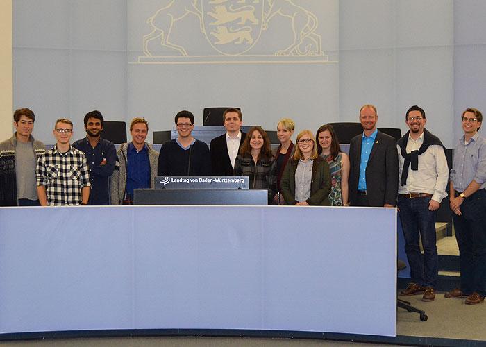 Besuch des Landtages